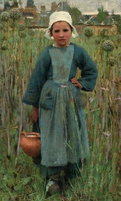 Young Lyddie in the fields. Via Arts & Crafts in the V&A Collections - Victoria and Albert Museum.