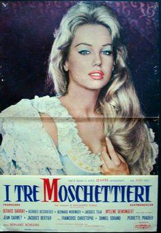 Mylene Demongeot in Les Trois mousquetaires (The Three Musketeers) (1961). Italian fotobusta poster