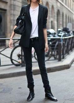 #StoresLikeTarget,Blazer with skinny black #jeans and long booties. #99Storeslike.