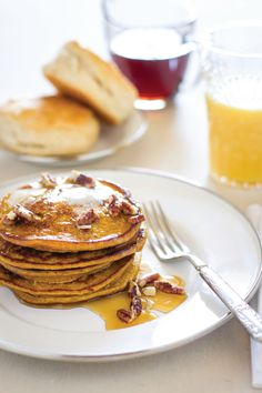 Pumpkin Spice Pancakes by @Sam McHardy Henderson of Today's Nest