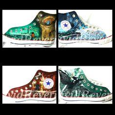 Custom Percy Jackson Shoes by VividReverie on Etsy, $100.00