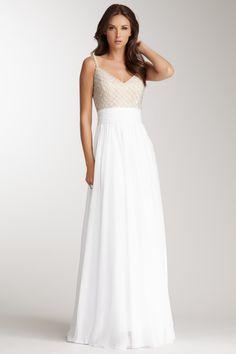 beaded v-neck gown Les Plus Belles Robes 6d3ba30f46cb