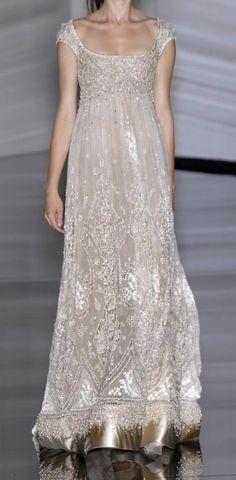 Shining full length wedding dress