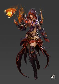 Basaltic female mage by puppet wj