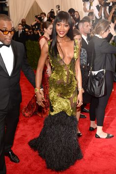 Naomi Campbell in Burberry. Photo: Getty Images