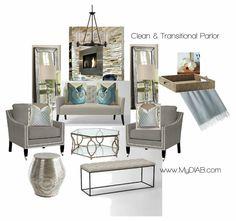 transitional design from decorator in a box www.mydiab.com