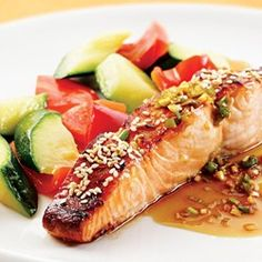 Honey-Soy Broiled Salmon - EatingWell.com So, so, so good! And easy.