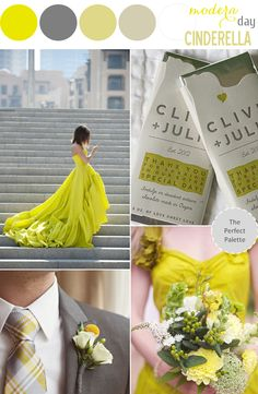Modern Day Cinderella | Chartreuse and Gray http://www.theperfectpalette.com/2014/03/modern-day-cinderella-chartreuse-and.html