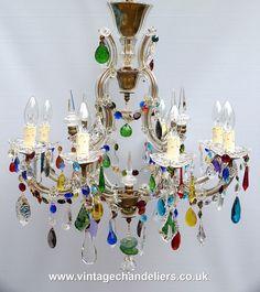 #chandeliers #honeyb #colouredchandelier #multicolouredchandelier #vintagechandelier #antiquechandelier #eclectic #chandelier