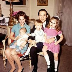 royal_greece on Instagram: Greek Royal Family, circa 1970-Queen Anne-Marie holding Prince Nikolaos, King Constantine holding Crown Prince Pavlos and Princess Alexia
