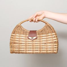 1960s Basket Purse Woven Straw Large by OldFaithfulVintage, $35.00