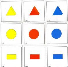 El vídeo (julio 2007) muestra cómo Erik ordena por formas. La terapeuta ha puesto sobre cada uno de los cubos bocabajo una figura geométrica...