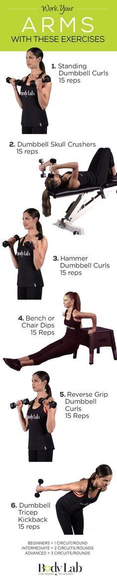 Show off sleek, sexy arms with this amazing BodyLab exercise. #BeTheGirl