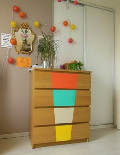 ikea malm dresser goes glam ou comment customiser sa commode gr ce quelques bouts de carton. Black Bedroom Furniture Sets. Home Design Ideas