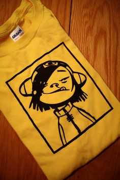 Noodle Gorillaz Screenprinted T-Shirt by nimbusprintshop on Etsy https://www.etsy.com/listing/86361629/noodle-gorillaz-screenprinted-t-shirt