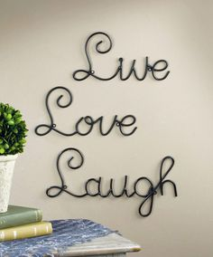 Live Love Laugh wall art
