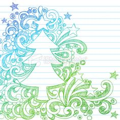 hand-drawn sketchy Christmas tree