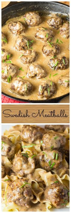 This amazing recipe for homemade Swedish Meatballs starts with a best ever meatball recipe! The meatballs are then smothered in a rich creamy gravy sauce.