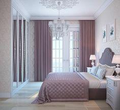 Purple Bedroom Decor, Purple Bedrooms, Bedroom Colors, Bedroom Sets, Bedroom Wall, Design Bedroom, Gold Bedroom, Bedroom Black, Master Bedroom