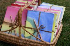 Handmade journals with artwork from Waldorf 2nd grade