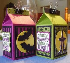 Love to Stamp & Scrap: Thanks for 'hopping' on over! Dulceros Halloween, Halloween Treat Boxes, Halloween Paper Crafts, Manualidades Halloween, Halloween Favors, 3d Paper Crafts, Halloween Projects, Halloween Cards, Holidays Halloween