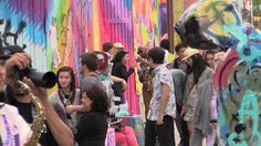 A scene from Bushwick Open Studios 2014. Photo: YouTube