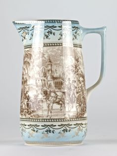 """Antique style Chinoiserie Chinese Pitcher Jug Ornate Edwardian Mark 20.5cm/8"""" #Chinoiserie #Jug #chinoisforliving #chineseantique"""