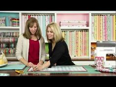 """Deonn Stott takes time to show Cindy her fabulous Portable Design Wall--a """"must have"""" for every quilter!"""