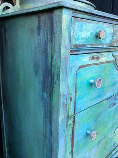 Painted Dresser Bohemian Vintage Dresser Vintage Dresser #ad