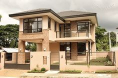 Modern 2 Bedroom House Plans Lovely 2 Storey Modern asian Designed House with 4 Bedrooms Two Story House Design, 2 Storey House Design, Small House Design, Modern House Design, Modern House Plans, Small House Plans, House Floor Plans, Villa Plan, Filipino House