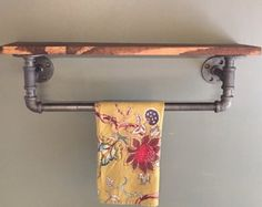 The Art Gallery Items similar to Industrial bathroom towel rack bathroom shelf towel rack double towel