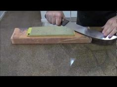 Knife Sharpening How To Sharpen A Butchers Knife - YouTube