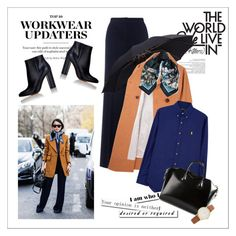 """""""Workwear updaters"""" by amaryllis ❤ liked on Polyvore featuring Whistles, Charles Anastase, Roberto Cavalli, Polo Ralph Lauren, Gianvito Rossi, Givenchy and Kate Spade"""