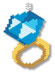 Beading Pattern: Diamond Ring Earring or Charm | Megan's Beaded Designs