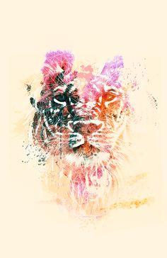 Lion Tattoo | Yayie Motos...watercolor tattoo inspiration/LIONESS