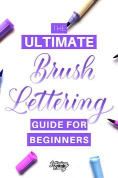 How To Do Brush Lettering - The Ultimate Guide Brush Lettering Worksheet, Brush Lettering Quotes, Lettering Guide, Hand Lettering Practice, Chalk Lettering, Hand Lettering Quotes, Chicano Lettering, Lettering Styles, Typography
