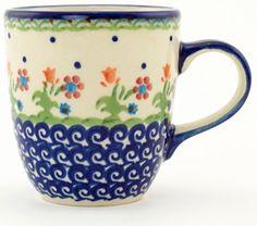 Polish Pottery 12 Oz Spring Flowers Mug From Boleslawiec >>> You can…