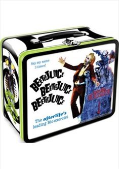 Lunch Box: Beetlejuice :: Houseware :: Weird Stuff :: House of Mysterious Secrets - Specializing in Horror Merchandise & Collectibles Tin Lunch Boxes, Vintage Lunch Boxes, Metal Lunch Box, Tin Boxes, Book Boxes, Lunch Bags, Vintage Tins, Vintage Books, Beetlejuice Movie