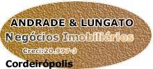 Andrade & Lungato Negócios Imobiliários LTDA Rua Jose Bonifácio, 274 - Centro F.19 3546-1726/98172-9000/99953-8000 RIO CLARO / SP andrade.lungato@gmail.com
