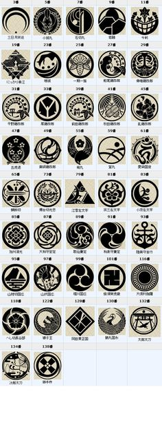 Touken Ranbu: The sword's crests Japanese Patterns, Japanese Design, Japanese Art, Touken Ranbu, Japanese Family Crest, Magic Circle, Joko, Minions Quotes, Anime Boys