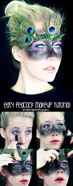 This tutorial is incredibly easy and perfect for beginners! Come checkout this peacock makeup tutorial at twistmepretty.com