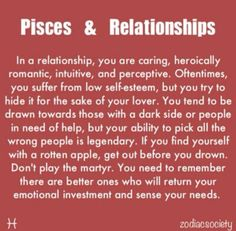Discover and share Virgo And Pisces Quotes. Explore our collection of motivational and famous quotes by authors you know and love. Pisces Love, Astrology Pisces, Pisces Quotes, Zodiac Signs Pisces, Pisces Woman, Zodiac Facts, Pisces Compatibility, Star Pisces, Zodiac Horoscope