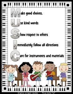 Piano Lessons Software Music Room Poster Rules - Music Room Poster to display classroom expectations. This is a JPG file that can be enlarged into a full-size poster with great resolution. It is formatted for a 11 x 14 or 16 x Classroom Expectations, Classroom Rules, Music Classroom, Classroom Ideas, Music Teachers, Piano Lessons, Music Lessons, Vocal Lessons, Music Class Rules