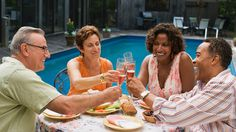 When looking for a place to retire consider being where your longtime friends are. They're better company than a beach.