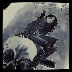 Death of the Endless from Neil Gaiman's Sandman series by Ben Templesmith.