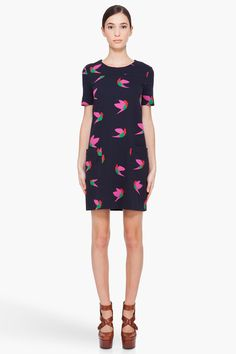 night bird knit dress