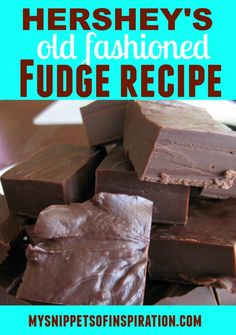 "I was craving chocolate a few nights ago so I made this Hershey's cocoa fudge recipe at 10pm. For the late hour it was pretty easy to make and it tastes divine! It will take about an hour to complete and the directions must be followed to a ""t"". The results are well worth it!"
