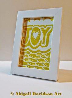 © Abigail Davidson Art -- Title: Joy, Medium: Print, Framed View -- Original and handmade
