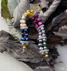 Multi Coloured Freshwater Pearl Bracelet  Party by SunnyCrystals, £20.00. Use Coupon Code SUMMER2012 for 20% Discount