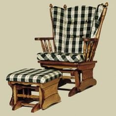 Charmant Amish Heritage Four Post Glider Rocking Chair (Upholstered)